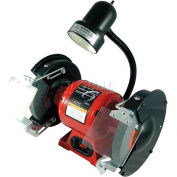 """Sunex Tools 5002A 8"""" 3/4 HP 3450 RPM Bench Grinder W/ Light"""