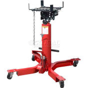 Sunex Tools 7793B 1/2 Ton lb Telescopic Transmission Jack, Universal Saddle, Foot Activated
