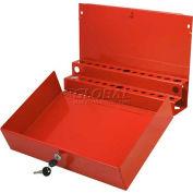 Sunex® Large Locking Screwdriver/Pry Bar Holder for Service Cart-Red
