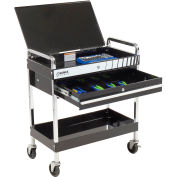 "Sunex Tools 8013ABK 30"" Black Tool Cart W/ Locking Top & Drawer"