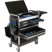 Sunex® Professional 5 Drawer Service Cart w/ Locking Top - Black