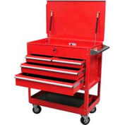 Sunex® Premium 4 Drawer Service Cart - Red