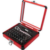 Sunex Tools 9726 38 PC. Mini Ratchet & Bit Set W/ Aluminum Case