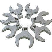 "Sunex® 1/2"" Dr. Jumbo Metric Crowfoot Wrench Set, 9740, 7-Piece, Polished"