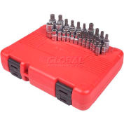 "Sunex® 1/4"", 3/8"", & 1/2"" Dr. Master Star Bit and Socket Set, 9934, 34-Piece, Chrome Vanadium"