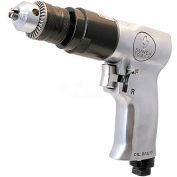 "Sunex Tools SX223, 3/8"" Pistol Air Drill, 0.35 HP, 1800 RPM, 4 CFM, Reversible, 90 PSI"