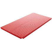 Pegboard Panels - Powdercoat Red 16 x 32 (2 pc)