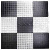 "Pegboard Panels - Checkerboard Black & White 48"" x 48"" (9 pc @ 16"")"