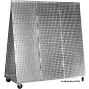 Alligator Board Pegboard Tool Cart - Galvanized 48 x 48