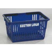 "Plastic Shopping Basket with Plastic Handle, Standard, 17""L X 12""W X 9""H, Grape, Good L Corp. ® - Pkg Qty 12"