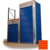 "Trac-Rite RLB40048120 Rack-Lock Back Closure, 48""W x 120""H, Steel, Sunset Orange"