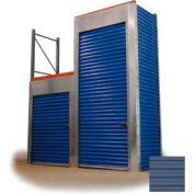 "Trac-Rite RLB42048144 Rack-Lock Back Closure, 48""W x 144""H, Steel, Polar Blue"