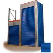 "Trac-Rite RLB43048096 Rack-Lock Back Closure, 48""W x 96""H, Steel, Royal Blue"