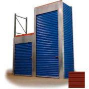 "Trac-Rite RLF47096144 Rack-Lock Front Closure, 96""W x 144""H, Steel, Cedar Red"