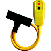 GFCI Cord Set 30334008-08, Right Angle, Triple Tap, Manual, 2 FT, Yellow