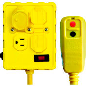 GFCI Outlet Box 30434052, Right Angle, Auto, 6 FT, Yellow