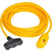 GFCI Cord Set 30334305-01, Right Angle, Auto, 50 FT, Yellow