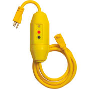 GFCI Cord Set 30338022-01, In-Line, Auto, 6 FT, Yellow