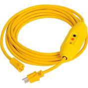GFCI Cord Set 30438052-01, In-Line, Auto, 25 FT, Yellow
