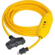 GFCI Cord Set 30438306-01, In-Line, Auto, 100 FT, Yellow