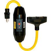 GFCI Cord Set 30396501-08, GFCI 20 Amp, Heavy Duty, In-Line, Manual, 2 FT, Black