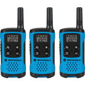 Motorola Talkbout® T100TP Two-Way Radios, Neon Blue - 3 Pack
