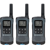 Motorola Talkabout® T200TP Rechargeable Two-Way Radios,Gray - 3 Pack