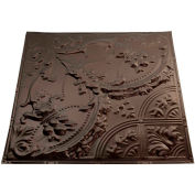 Great Lakes Tin Saginaw 2' X 2' Lay-in Tin Ceiling Tile in Bronze Burst - Y53-06