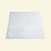 Great Lakes Tin Ludington 2' X 2' Lay-in Tin Ceiling Tile in Matte White - Y57-01
