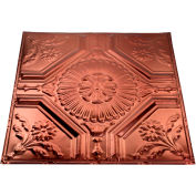 Great Lakes Tin Rochester 2' X 2' Nail-up Tin Ceiling Tile in Vintage Bronze - T58-09