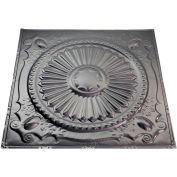 Great Lakes Tin Toronto 2' X 2' Lay-in Tin Ceiling Tile in Argento - Y59-07