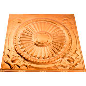 Great Lakes Tin Toronto 2' X 2' Lay-in Tin Ceiling Tile in Copper - Y59-08