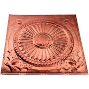 Great Lakes Tin Toronto 2' X 2' Lay-in Tin Ceiling Tile in Vintage Bronze - Y59-09
