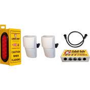Collision Awareness Forklift Sensor, Look Out 1 Exterior, 2 Box, 2 Sensors, 2 LG/SM Lights, 15' Cord