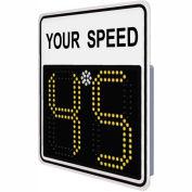 "Tapco® SP450 15"" Radar Feedback Sign, AC powered, White Sign, 126027"