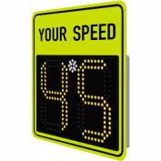 "Tapco® SP450 15"" Radar Feedback Sign, AC Powered, Fluorescent Yellow-Green, 128074"