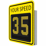 """Tapco® SP650 15"""" Radar Feedback Variable Message Sign, 4 Cell Battery Powered, Yellow, 128083"""