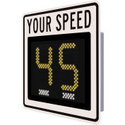 """Tapco® Safe Pace 250, 12"""" Radar Feedback Sign, Battery Powered,White, 129857"""