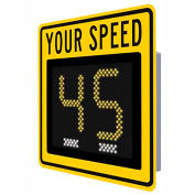 """Tapco® Safe Pace 250, 12"""" Radar Feedback Sign, Battery Powered  Yellow  129860"""