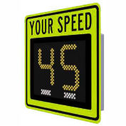 """Tapco® Safe Pace 250, 12"""" Radar Feedback Sign,  Battery Powered, Yellow/Green, 129863"""