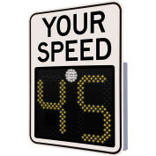 "Tapco® Safe Pace 475, 18"" Radar Feedback Sign, Solar Powered, White, 129869"