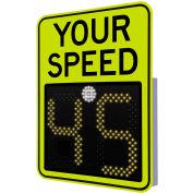"Tapco® Safe Pace 475, 18"" Radar Feedback Sign, Solar Powered, YellowGreen, 129875"