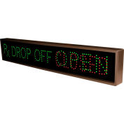 "Tapco 132490 RX Drop Off|Open|Closed, 42"" x 7"" x 2.5"", Green/Red LED Sign"