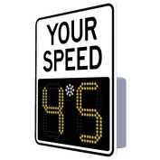 "Tapco 138840 EV 11"" Radar Feedback Sign, Your Speed, Hip White Face, 23"" x 29"""