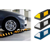 Tapco® 1485-00015 Rubber Vehicle Stop 6'L, Asphalt Installation, Blue with White Stripes