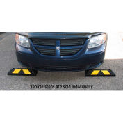"Tapco® 1485-00053 Rubber Park-It Wheel Stop, 22""L x 6""W x 4""H, Black with Yellow Stripes"