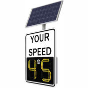 "Tapco® Safe Pace® SP100 11"" Radar Feedback Sign, Solar Powered, White Sign, 1485-00071"