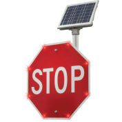 "Tapco® 2180-00208 BlinkerStop® Flashing LED STOP Sign R1-1, 36""W, Solar"