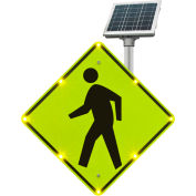 "Tapco® 2180-00214 BlinkerSign® Flashing LED Pedestrian Crossing Sign W11-2, 30""W, Solar"