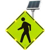 "2180-00232 BlinkerSign® Flashing LED Pedestrian Crossing Sign W11-2, 36""W, Solar"